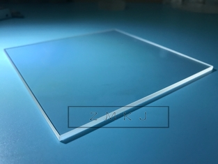 116x116mm Square Sapphire Optical Windows , Sapphire Crystal Glass 8mm Thickness